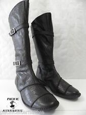 Bottes LUXAT NOXE marron FEMME cuir ville taille 40 boots black woman NEUF