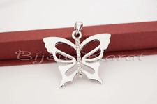Schmetterling Ketten Anhänger Silber plattiert mit Strass Butterfly Pendant