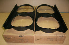 NOS Mopar pair head light bezels 1969 Chrysler 300 2898164-5