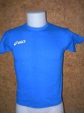 tee shirt junior manches courtes ASICS,100% coton, Bleu clair /10-12 ans-T213Z9