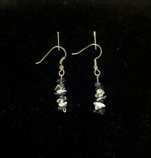 New Crystal & Amethyst Tumble Chip Earrings Free Shipping and Next Day Shipping