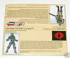 2001 GI Joe vs Cobra _ Heavy Duty vs Cobra Claws _ Uncut File Cards