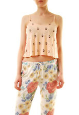 Wildfox Women's French Press Strappy Crop Cami Peach S RRP £47 BCF612