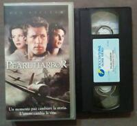 VHS FILM Ita Drammatico PEARL HARBOR ben affleck touchstone no dvd cd lp(V51)°°°