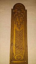 "Antique Vintage Embossed Brass Metal Door Push Finger Plate 2 3/8 ""x 8 5/8"""
