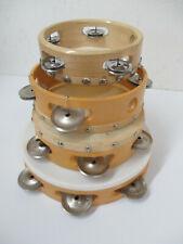 4 Music Instrument Tambourines - 3 Sizes