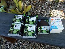 Lot of NEW Genuine OEM HP 920XL Black Ink Cartridges CD975AN + Color M/Y/C