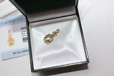 BNIB Fab Rare 2.34ct green Sillimanite 9ct Yellow Gold Pendant gift idea