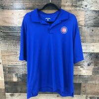 Chicago Cubs Mlb Antigua Men's Royal Blue Short Sleeve Polo Shirt Size XL