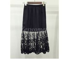 Lace Extender Slip Skirt Extra long See Through A-Line Skirts layering Vintage