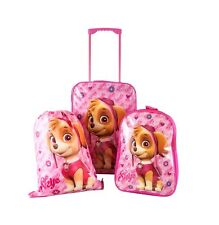 DISNEY PAW PATROL KIDS SUPER LIGHTWEIGHT 3 PIECES NEW WHEELED BAG