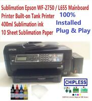 Sublimation Epson WF-2750 / L655 Mainboard Eco Tank Printer 400ml ink & 10 Paper