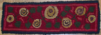 ANTIQUE POSIES RUNNER II Primitive Rug Hooking KIT with cut wool strips