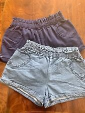 Mini Boden Girls Heart Pocket Shorts- 12y