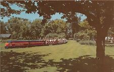 Illinois postcard Chicago Riverview Amusement Park Miniature Train