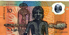 1988 Australia Bicentenary Johnston/Fraser $10 Polymer Banknote - AB11