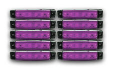 10 PCS 12V LED PURPLE SIDE MARKER POSITION OUTLINE LAMPS TRUCK LORRY TRACTOR BUS
