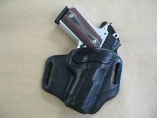 Kimber Ultra Carry 1911 OWB Leather 2 Slot Molded Pancake Belt Holster CCW BLK R