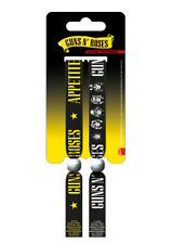 2 Guns N' Roses Festival Woven Fabric Wristbands Bracelets Axl Rose *OFFICIAL*