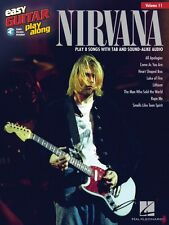 Nirvana Sheet Music Easy Guitar Play-Along Book and Audio NEW 000122325
