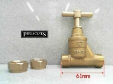 WRAS Approved Brass Mains Stopcock 15mm Stop Cock Compression Tap