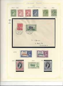 FALKLAND ISLANDS, Stamps and Cover, from 1883 to Coronation
