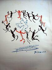 PABLO PICASSO - Sérigraphie 50 x 70 cm . Signé sur planche
