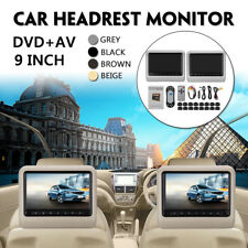 9 Inch Digital LCD Universal Car DVD Headrest Monitor Player SD 8GB to 16GB