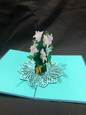 Easter Lilly 3D Pop Up Card Easter Greeting Card Love Birthday Anniversary