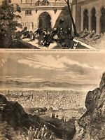 Massacre of the Maronites by the Druze Syria Scenes of War 1860 great old print