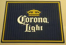 CORONA LIGHT CROWN LOGO SPILL BAR MAT GLASS COASTER NEW