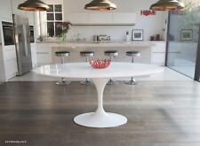170cm x 110cm Oval - White Laminate Tulip Table - designed by Eero Saarinen