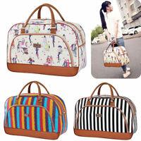 Women Lady Large Capacity Handbag Travel Weekend Holdall Casual Hand Luggage Bag
