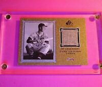 2001 SP Legendary Cuts Game Jersey Relic THO Tommy Holmes Uniform Braves