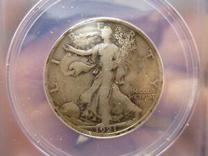 1921 D Walking Liberty Silver Half Dollar ANACS F 12