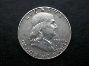 HALF DOLLAR AÑO 1950 - USA  MEDIO DOLAR DE PLATA