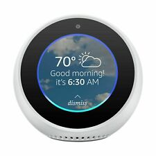 Amazon Echo Spot White Smart Alarm Clock with Alexa