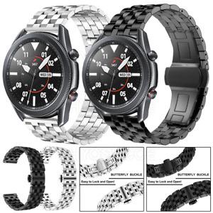 Edelstahl Armband für Samsung Galaxy Watch 3 41/45mm 42/46mm Ersatz Uhrenarmband