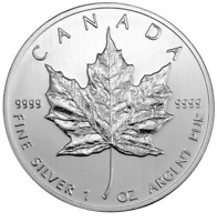 2010 CANADIAN MAPLE 1oz Silver Coin