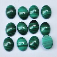 LARGE 18x13mm OVAL CABOCHON-CUT NATURAL AFRICAN MALACHITE GEMSTONE £1 NR!