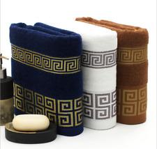 3 PC LUXURY TOWEL SET 100% COMBED COTTON SOFT DESIGN HAND BATH BATHROOM TOWELS