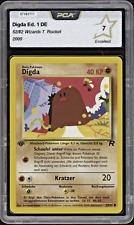 2000 Pokemon DIGDA   Diglett - 52/82 - 1. Edition Team Rocket DE PCA 7 (= PSA 7)