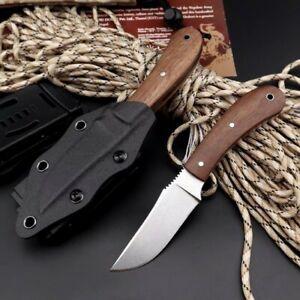 "6.96"" WK Lurker Knife Hunting Survival Rescue 80CrV2 Blade Wood Handle w/Sheath"