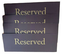 Vinyl 4 X 11 Brown And Gold Reserved Sign Lot