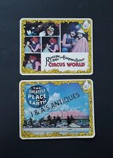 2 Postcards ~ Ringling Bros. And Barnum & Bailey Circus ~ Clowns ~ Circus Tent