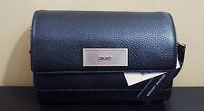NWT DKNY Black Pebbled Leather Crossbody Clutch Handbag Purse