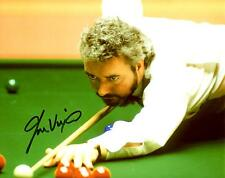 John Virgo Signed Snooker Photo 10 x 8 AFTAL RD#175