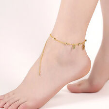 Fashion Jewelry Beaded Gold Plated Anklet Ankle Charm Chain Bracelet Foot Beach