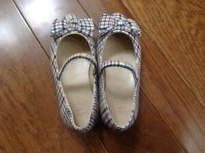 Janie And Jack Toddler Girls Dress Plaid w/bowsShoes Size 7 - New