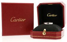 Cartier Maillon Panthère 18k Oro Blanco Anillo Banda Tamaño: 50 EE. UU. 5 1/4